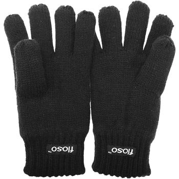Accessoires Kinderen Handschoenen Floso Knitted Zwart