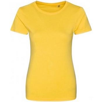 Textiel Dames T-shirts korte mouwen Ecologie Organic Zonnegeel