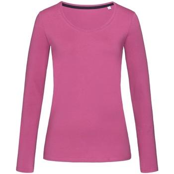 Textiel Dames T-shirts met lange mouwen Stedman Stars Claire Cupcake Roze