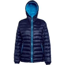 Textiel Dames Dons gevoerde jassen 2786 Hooded Marine/Saffier
