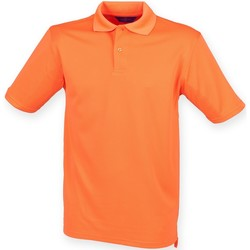 Textiel Heren Polo's korte mouwen Henbury HB475 Gebrande sinaasappel