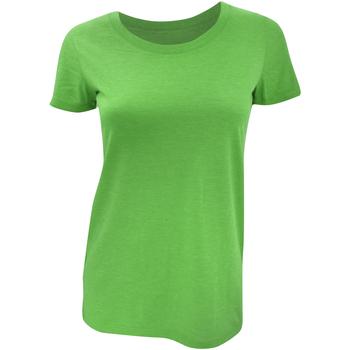 Textiel Dames T-shirts korte mouwen Bella + Canvas Triblend Groen Triblend