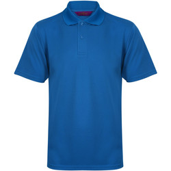 Textiel Heren Polo's korte mouwen Henbury Pique Middenblauw