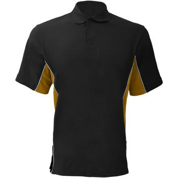 Textiel Heren Polo's korte mouwen Gamegear Pique Zwart/Goud/Wit