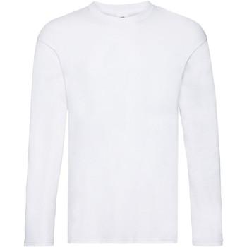 Textiel Heren T-shirts met lange mouwen Fruit Of The Loom Original Wit