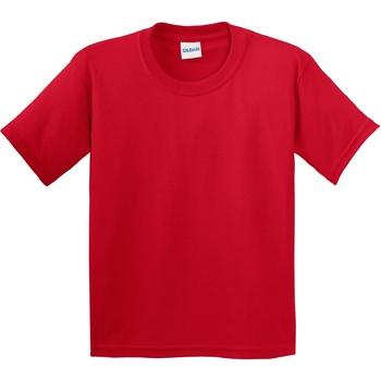 Textiel Kinderen T-shirts korte mouwen Gildan Soft Style Rood