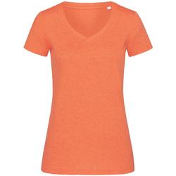 Textiel Dames T-shirts korte mouwen Stedman Stars Melange Pompoen Heide