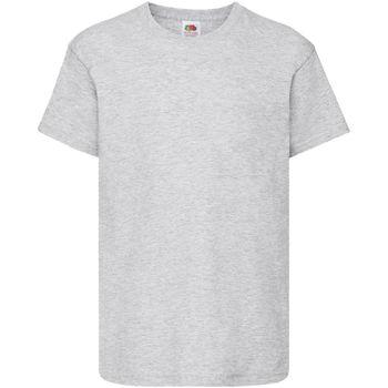 Textiel Kinderen T-shirts korte mouwen Fruit Of The Loom Original Heather Grijs