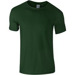 Textiel Heren T-shirts korte mouwen Gildan Soft-Style Bosgroen