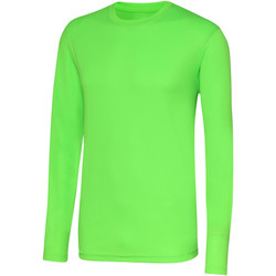 Textiel Heren T-shirts met lange mouwen Just Cool Performance Elektrisch Groen