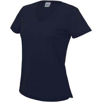 Textiel Dames T-shirts korte mouwen Awdis Girlie Franse marine