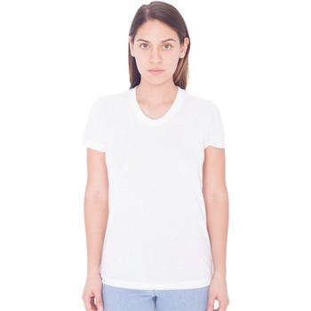 Textiel Dames T-shirts korte mouwen American Apparel PL301W Wit