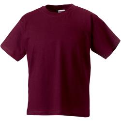 Textiel Kinderen T-shirts korte mouwen Jerzees Schoolgear Classics Bourgondië