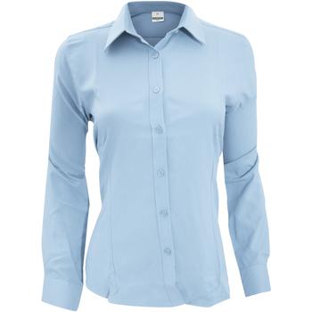 Textiel Dames Overhemden Henbury Wicking Lichtblauw