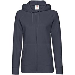 Textiel Dames Sweaters / Sweatshirts Fruit Of The Loom Lightweight Donker Marine