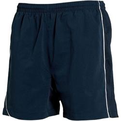 Textiel Heren Korte broeken / Bermuda's Tombo Teamsport Performance Navy/Navy/ White Piping