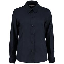 Textiel Dames Overhemden Kustom Kit Oxford Franse marine