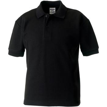 Textiel Jongens Polo's korte mouwen Jerzees Schoolgear Pique Zwart