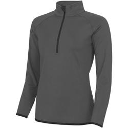 Textiel Dames Fleece Awdis JC036 Houtskool/Straalzwart