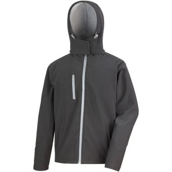 Textiel Heren Windjacken Result Hooded Zwart/Grijs