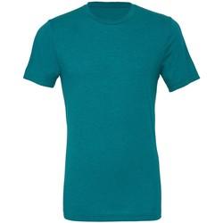 Textiel Heren T-shirts korte mouwen Bella + Canvas Triblend Teal Triblend