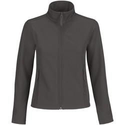 Textiel Dames Fleece B And C JWI63 Donkergrijs / Neon Oranje