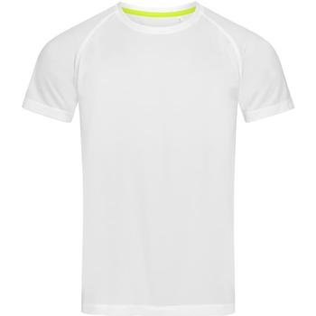 Textiel Heren T-shirts korte mouwen Stedman Active Wit