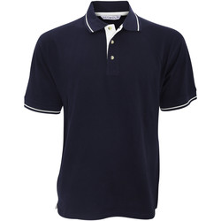 Textiel Heren Polo's korte mouwen Kustom Kit Mellion Marine / Wit