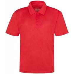 Textiel Heren Polo's korte mouwen Awdis JC040 Vuurrood