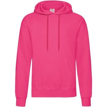 Textiel Heren Sweaters / Sweatshirts Fruit Of The Loom Hooded Fuchsia