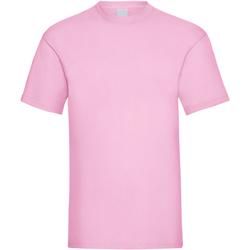 Textiel Heren T-shirts korte mouwen Universal Textiles Casual Pastel Roze