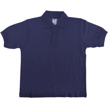Textiel Kinderen Polo's korte mouwen B And C Safran Marineblauw