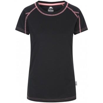 Textiel Dames T-shirts korte mouwen Trespass Mamo Zwart/Roze