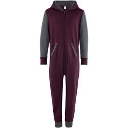 Textiel Kinderen Jumpsuites / Tuinbroeken Comfy Co Contrast Bourgogne/Hardkolen