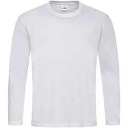 Textiel Heren T-shirts met lange mouwen Stedman Classics Wit