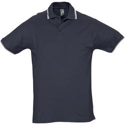 Textiel Heren Polo's korte mouwen Sols 11365 Marine / Wit