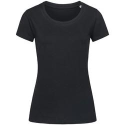 Textiel Dames T-shirts korte mouwen Stedman Stars Organic Zwart