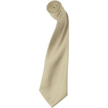Textiel Heren Krawatte und Accessoires Premier Satin Natuurlijk