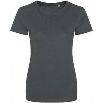 Textiel Dames T-shirts korte mouwen Ecologie Organic Houtskool