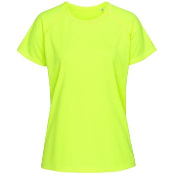 Textiel Dames T-shirts korte mouwen Stedman Raglan Cybergeel