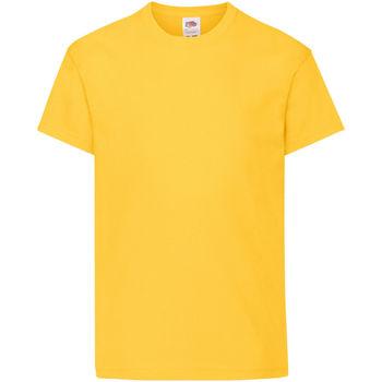 Textiel Kinderen T-shirts korte mouwen Fruit Of The Loom 61019 Zonnebloem Geel