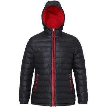 Textiel Dames Dons gevoerde jassen 2786 Hooded Zwart/Rood