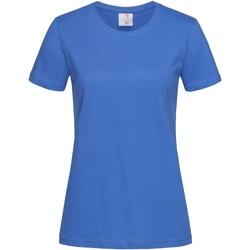 Textiel Dames T-shirts korte mouwen Stedman Classics Blauw