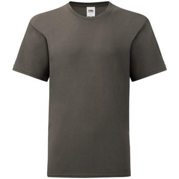 Textiel Kinderen T-shirts korte mouwen Fruit Of The Loom Iconic Licht Graphite Grijs