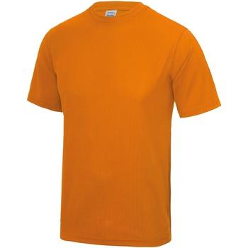 Textiel Heren T-shirts korte mouwen Just Cool Performance Sinaasappelschilfers