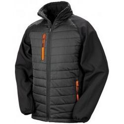Textiel Heren Dons gevoerde jassen Result Compass Zwart/Oranje