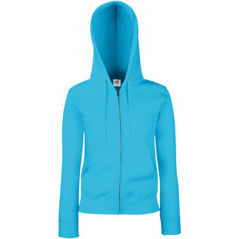 Textiel Dames Sweaters / Sweatshirts Fruit Of The Loom Hooded Azure Blauw