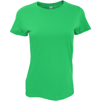 Textiel Dames T-shirts korte mouwen Sols Imperial Kelly Groen