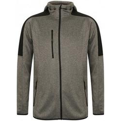 Textiel Heren Fleece Finden & Hales Active Donkergrijs mergel/zwart