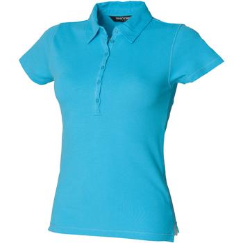 Textiel Dames Polo's korte mouwen Skinni Fit Stretch Surf Blauw